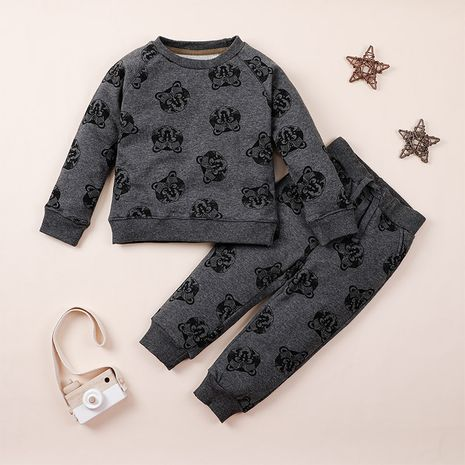 new  fashion two-piece children's sweater upper body trouser suit  NHLF265926's discount tags