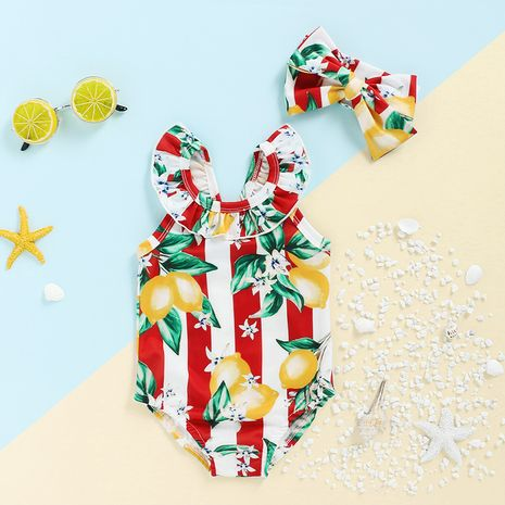 nuevo traje de baño de playa con estampado de frutas NHLF265952's discount tags