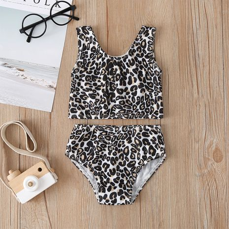 new fashion  leopard print split swimsuit  NHLF265965's discount tags
