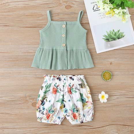 sleeveless sling Korean two-piece suit NHLF265980's discount tags