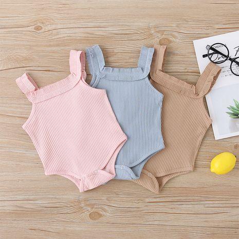 Ropa de bebé recién nacido pedo sin mangas triángulo mameluco bebé ropa de una pieza NHLF265982's discount tags