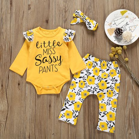 fashion printed letters baby clothing sets  wholesale NHLF265996's discount tags