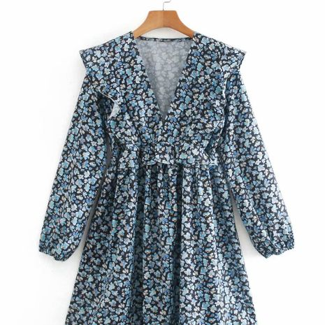 new Printed Pleated Mini Dress for women NHAM266055's discount tags