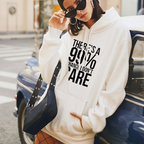 fashion new print loose large size hooded sweater for women NHSN266081's discount tags