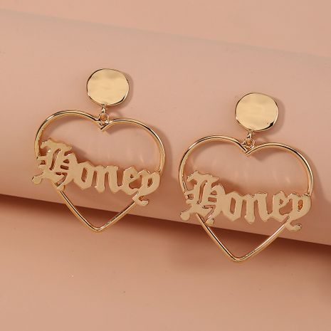 fashion  hot-selling wild metal letter hollow  love earrings  NHAN266322's discount tags