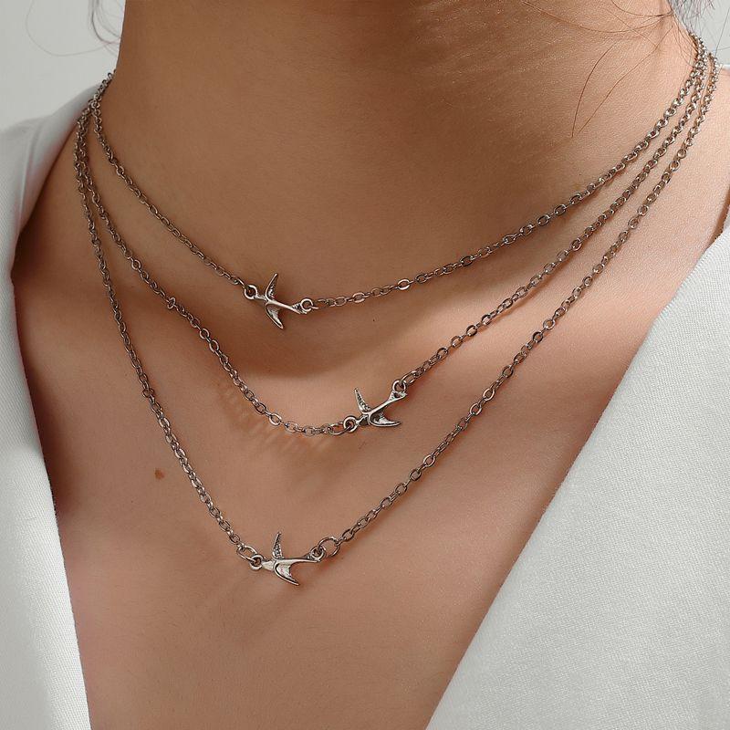 new bird multi-layer necklace  NHOT266374