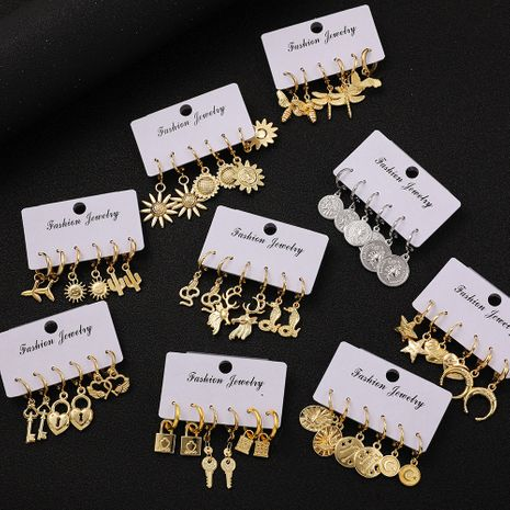 retro fashion Korean l earrings set  NHLL266419's discount tags