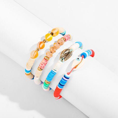ensemble de bracelet arc-en-ciel de style plage à pampilles en poterie souple NHLL266421's discount tags
