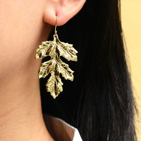 fashion geometric leaves glossy bohemian earrings  NHOT266467's discount tags