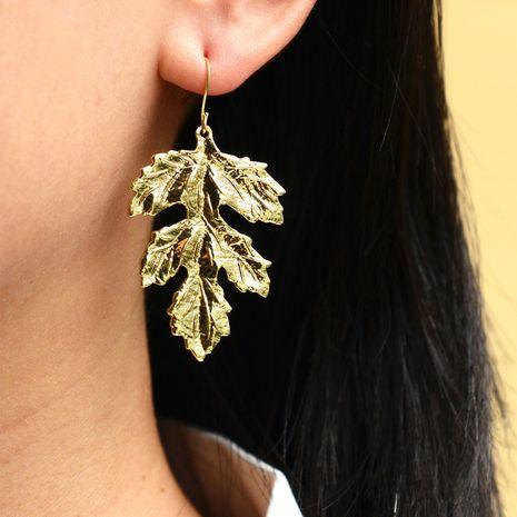boucles oreilles bohème brillantes à la mode feuilles géométriques NHOT266467's discount tags