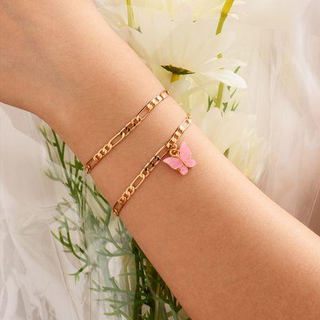 bracelet papillon en acrylique plaqué or NHOT266469's discount tags