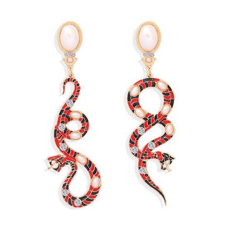 pendientes geométricos de tendencia de moda con patrón de serpiente larga NHJQ266477's discount tags