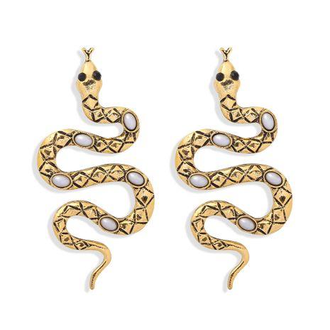 Pendientes de serpiente exagerados de aleación de textura muy vendidos NHJQ266479's discount tags