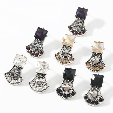 Boucles d'oreilles géométriques acryliques en alliage simple serti de diamants NHJE266486's discount tags