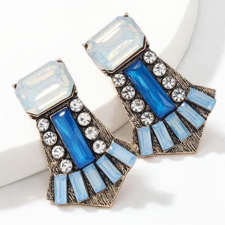 Boucles d'oreilles géométriques acryliques en alliage simple serti de diamants NHJE266487's discount tags