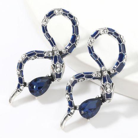 boucles d'oreilles serpent en alliage acrylique serti de diamants NHJE266490's discount tags