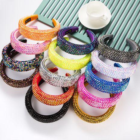 Bandeau de couleur unie avec strass large de 4,5 cm de large NHLN266506's discount tags