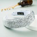 Flash Full Rhinestone 45cm Wide Edge Solid Color Headband NHLN266506