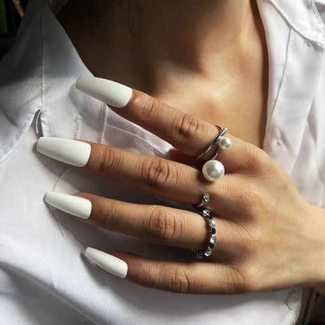 hot selling elegant pearl diamond fashion joint ring NHMD266541's discount tags