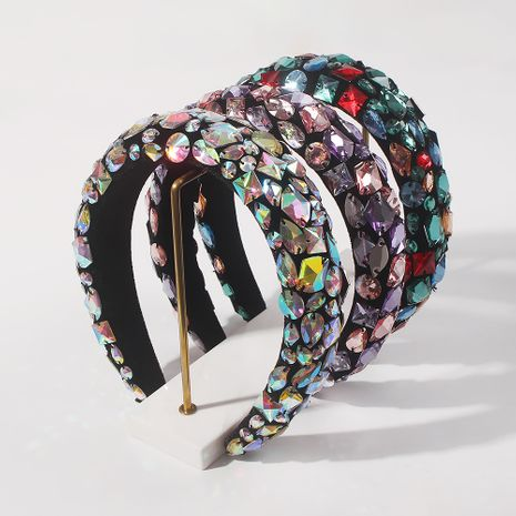 fashion baroque sponge  exaggerated headband NHMD266548's discount tags