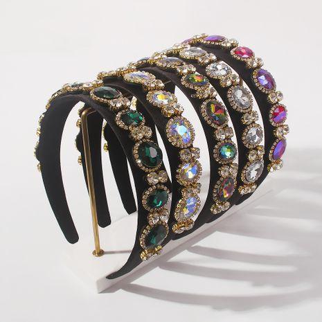 retro  elegant  diamond-studded luxury hairband wholesale NHMD266550's discount tags