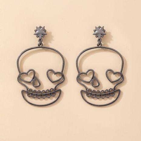 nouvelles boucles d'oreilles d'amour crâne exagérées de Noël drôle d'Halloween NHGY266557's discount tags