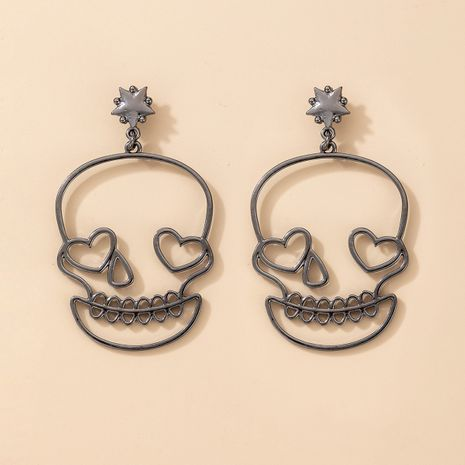 new Funny Halloween Christmas exaggerated skull love earrings NHGY266557's discount tags