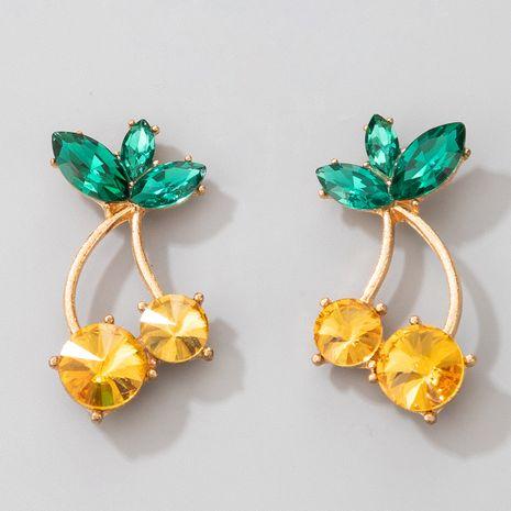 nuevos pendientes de diamantes de cereza amarilla NHGY266563's discount tags