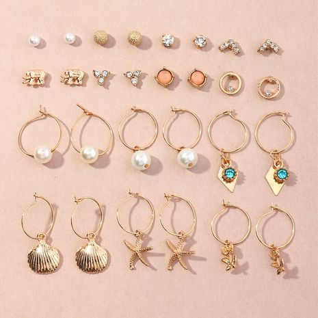 fashion  14-piece rose pearl earrings NHNZ266569's discount tags