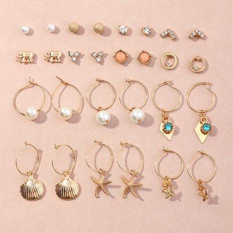 boucles d'oreilles à la mode 14 pièces NHNZ266569's discount tags