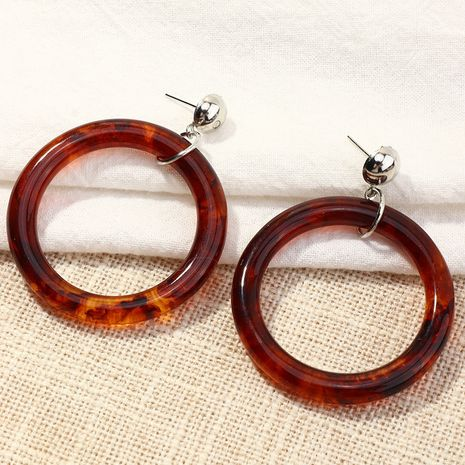 retro simple geometric circle acrylic earrings  NHNZ266570's discount tags
