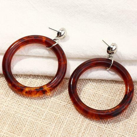 boucles d'oreilles en acrylique rétro simple cercle géométrique NHNZ266570's discount tags