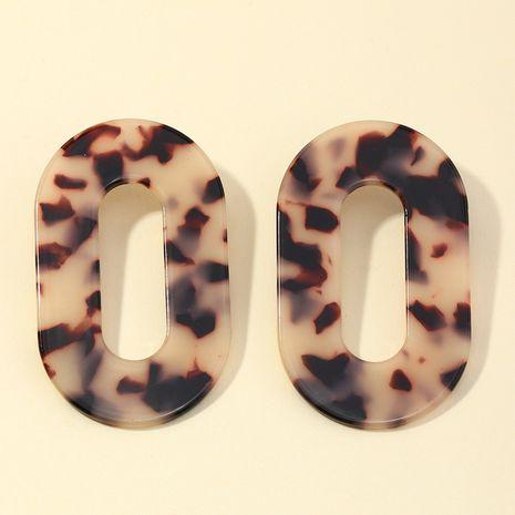 boucles d'oreilles à plaque géométrique atmosphérique acrylique ovale NHNZ266573's discount tags
