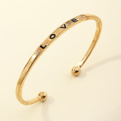 wholesale simple and exquisite love open bracelet NHNZ266574's discount tags