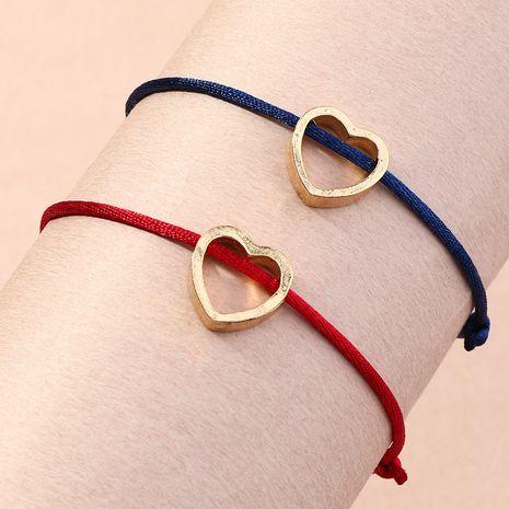 bracelet à pendentif simple en forme de cœur tissé à la main NHNZ266577's discount tags