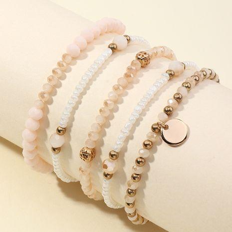 wholesale perles de riz imitation perles de riz élastique bracelet 5 pièces NHNZ266576's discount tags