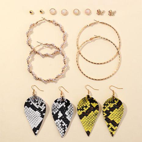 ensemble de 8 boucles d'oreilles avec perles à grand cercle NHNZ266579's discount tags