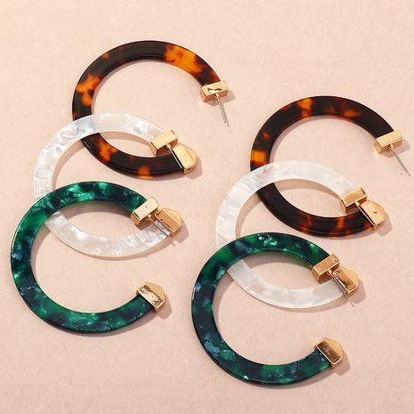 boucles d'oreilles géométriques simples acryliques créatives en forme de C NHNZ266580's discount tags
