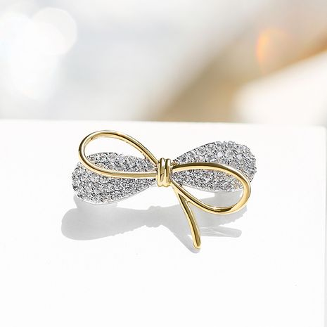 bow  anti-glare buckle fashion  brooch NHPP266623's discount tags