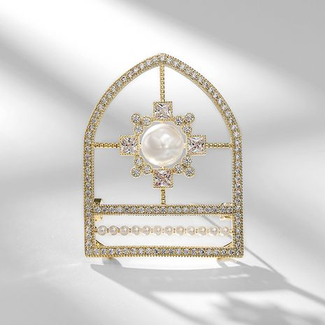 exaggerated shining shield elegant trend brooch NHPP266625's discount tags
