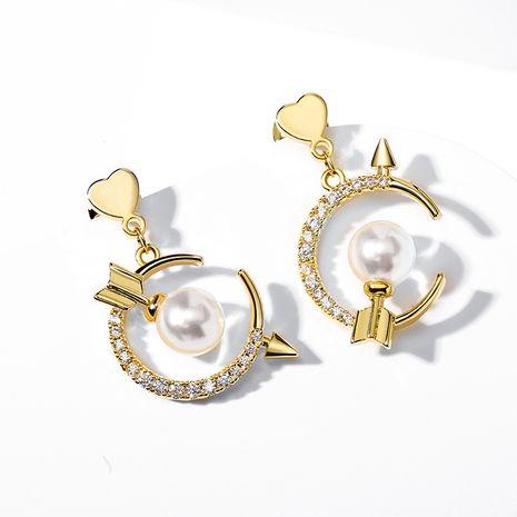 Boucles d'oreilles asymétriques en argent 925 avec aiguille de Cupidon NHPP266627's discount tags