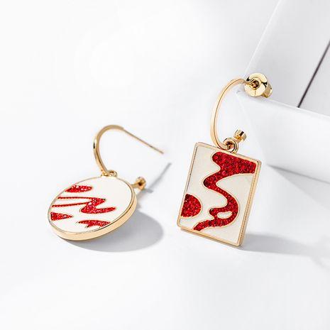 Boucles oreilles décoratives asymétriques en argent 925 NHPP266630's discount tags