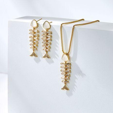 Boucles oreilles sexy simples et élégantes exagérées en os de poisson en argent 925 NHPP266632's discount tags