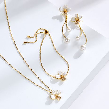 fashion sweet elegant flower pendant short necklace NHPP266639's discount tags
