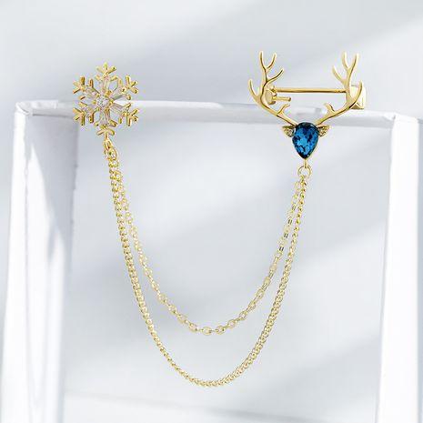 Snowflake Elk Creative  Brooch  NHPP266655's discount tags