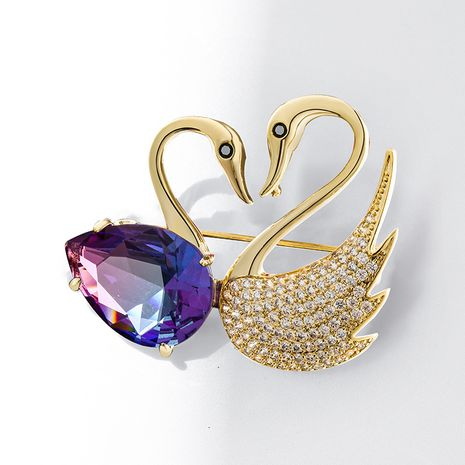 simple  swan elegant brooch  NHPP266657's discount tags