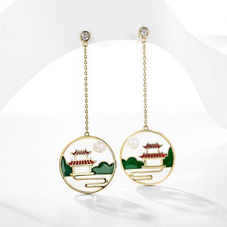 Boucles oreilles pendantes longues élégantes exagérées de style chinois en argent 925 NHPP266662's discount tags