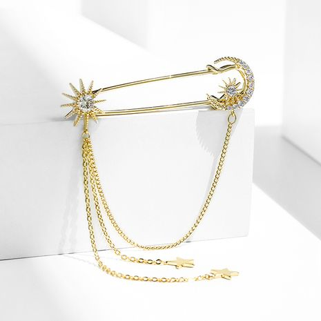 star tassel  simple creative brooch  NHPP266664's discount tags