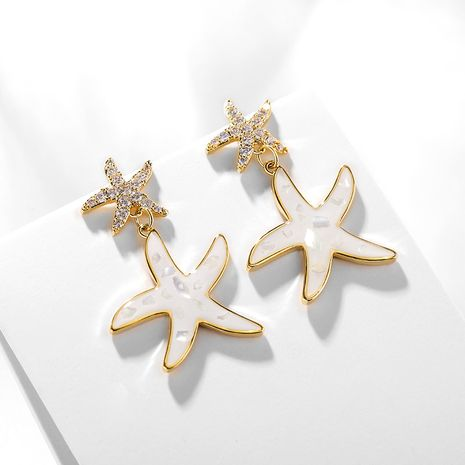 starfish creative fashion 925 silver needles earrings NHPP266674's discount tags