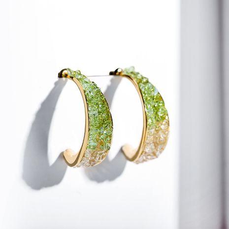 Boucles oreilles brillantes vertes géométriques à aiguille en argent 925 NHPP266685's discount tags